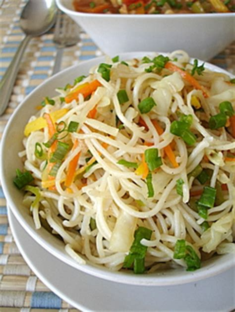 new year vegetarian noodles vegetable noodles vegetables in spicy garlic sauce
