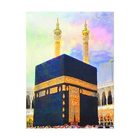 islamic pattern canvas holy kaaba islamic art canvas print zazzle