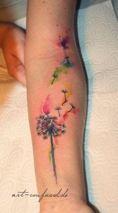 watercolor tattoo nederland watercolor dandelion on designs