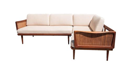 Sectional Sofa With Corner Table Hvidt And Orla M 248 Lgaard Nielsen Sectional Sofa With Corner Table At 1stdibs