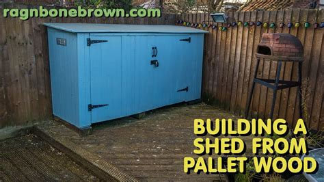 Building A R For Shed by Building A Shed Using Pallet Wood Part 1 Of 3