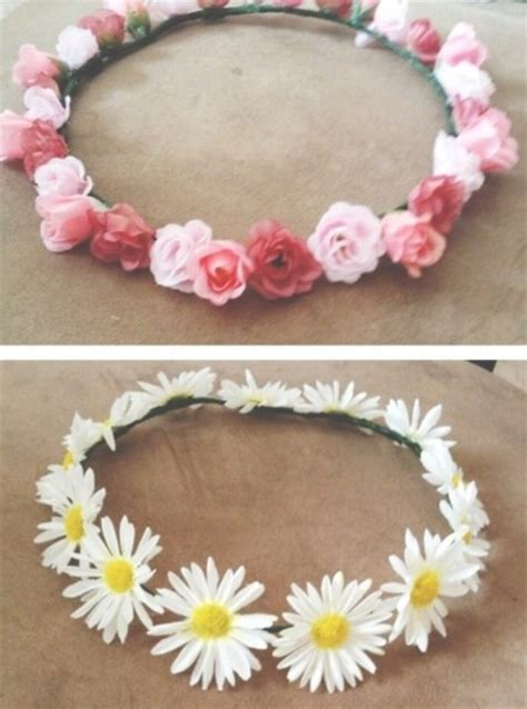 White Budroses Flower Crown 1 jewels headband flowers roses pink white flower headband crown flower crown