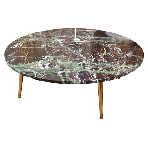 mid century 40 quot green marble coffee table at 1stdibs