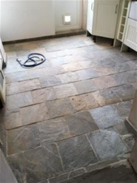 Slate Kitchen Floors Problems by Restoring A Poorly Sealed Slate Kitchen Tiled Floor In