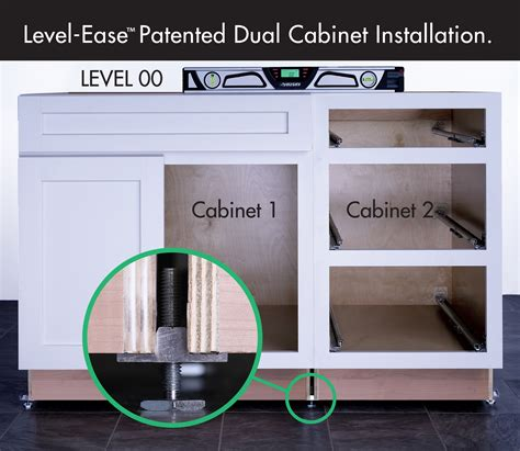Leveling Kitchen Cabinets Dual Cabinet Leveling Installation System Woodworking Network