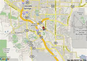 map colorado springs map of crowne plaza hotel colorado springs colorado springs