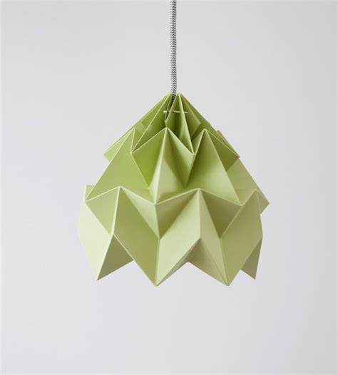 Moth Origami Lshade - l origami moth autumn green