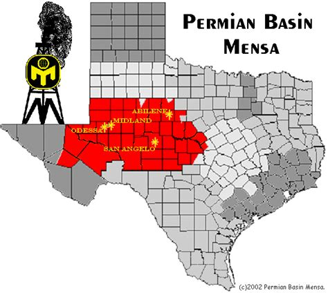 permian basin texas map map