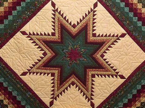 feathered trip quilt great skillfully made amish