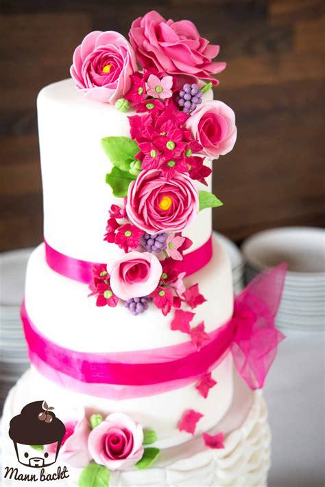 Hochzeitstorte Rosa by Wedding Cake For Mann Backt