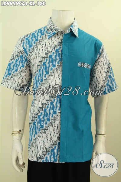Jaket Pria Kombinasi Jaket Gaul model baju batik pria kombinasi polos masa kini terbaru