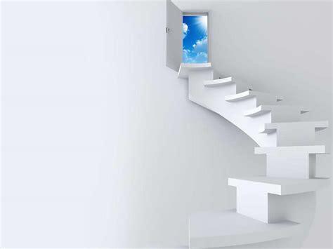 Home Design Powerpoint Templates 创意阶梯商务ppt模板