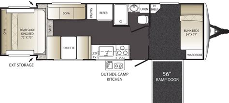 travel trailer toy hauler floor plans top 5 toy haulers travel trailers lakeshore rv blog