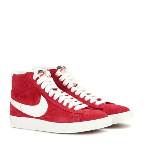 nike blazer mid vintage suede high top sneakers in lyst
