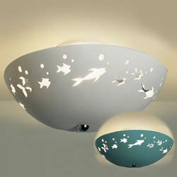 Fish Ceiling Light Frolicking Fish Ceramic Ceiling Light