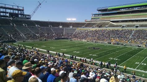 Section One Football by Notre Dame Stadium Section 7 Rateyourseats
