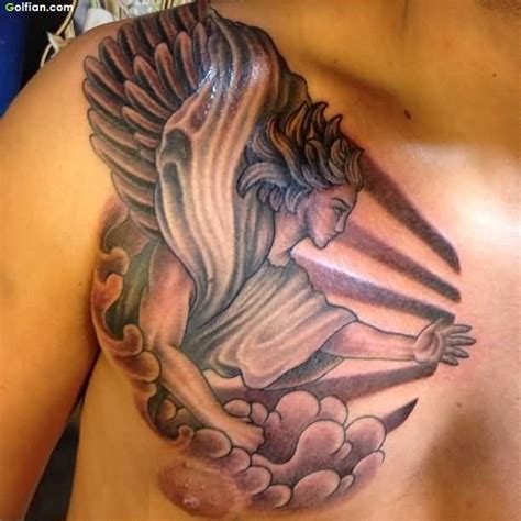 angel chest tattoos for men 25 most wonderful chest tattoos trendy 3d