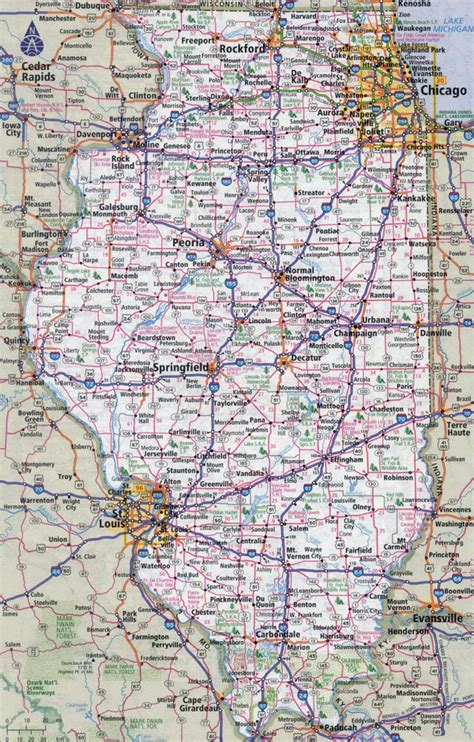 Of Illinois Search Large Map Of Illinois Search Results Dunia Photo
