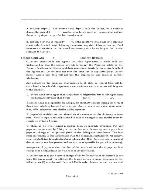 standard lease agreement standard lease agreement form ichwobbledich