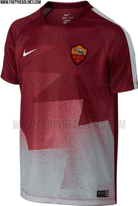 Tshirt As Roma 17 as roma 15 16 pre match and shirts released