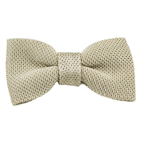 knitted silk bow tie vidoni plain ecru silk designer knitted bow tie from ties