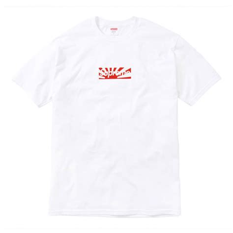 supreme japan supreme japan relief box logo t shirt white