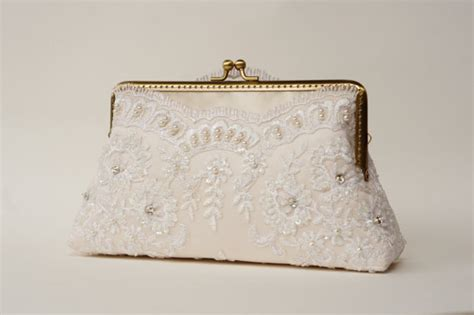 Vintage Lace Clutch From Again Nyc by Ivory Bridal Lace Clutch Vintage Inspired