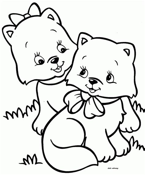 coloring pages my little kitty printable two little kitten friends for coloring didi