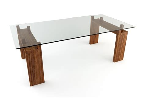 Wood And Glass Dining Tables Diy Rectangle Glass Top Dining Tables With Wood Base Ideas