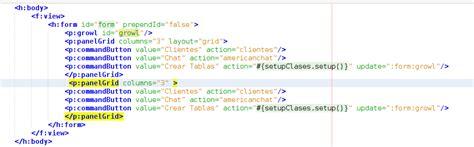 layout grid primefaces web responsive con primefaces