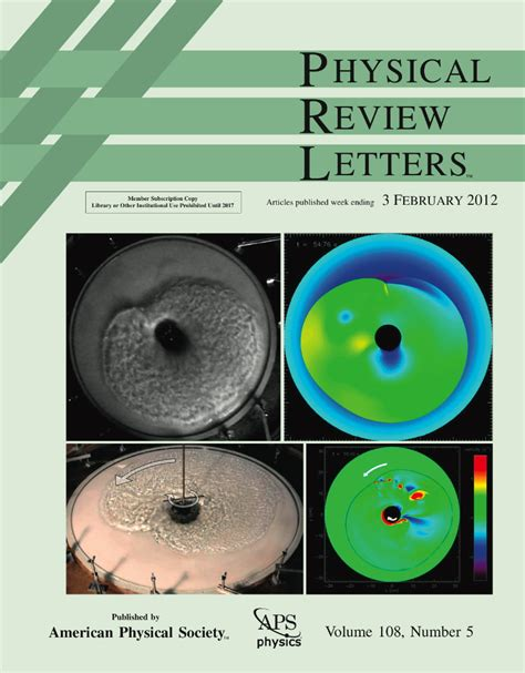 physical review letters 2 sn2ns home page 1540