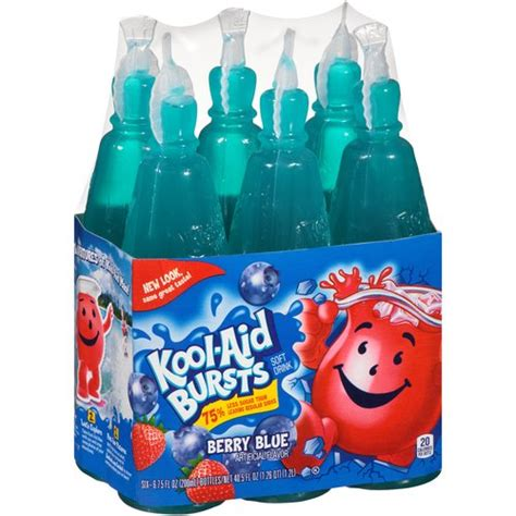 Colorchange Hackmanite 6 30 Ct kool aid bursts berry blue soft drink 6 75 fl oz 6 pack
