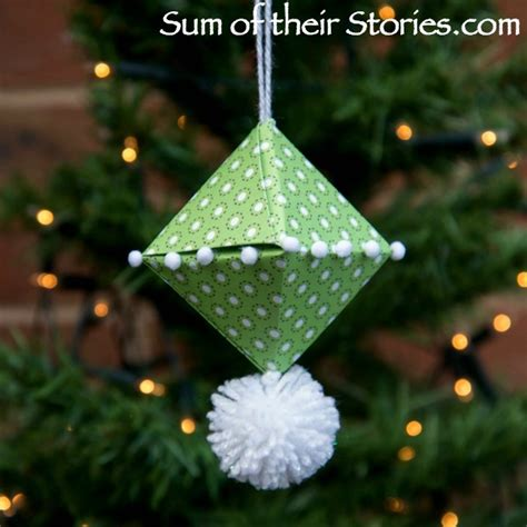 Easy Origami Ornaments - origami tree ornament sum of their stories