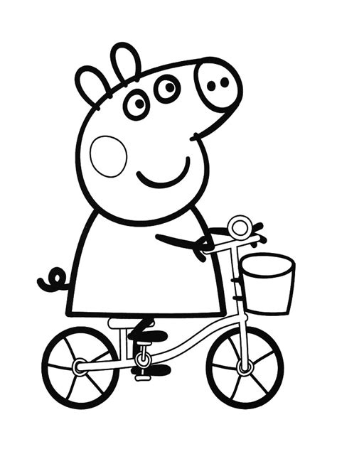 peppa pig coloring pages games peppa pig vector clipart best
