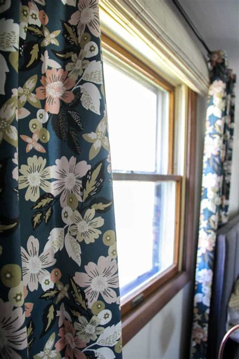 modern floral curtains how to hang curtains like a professional bright green door