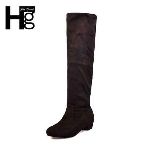 hee grand fashion knee high boots slim showing