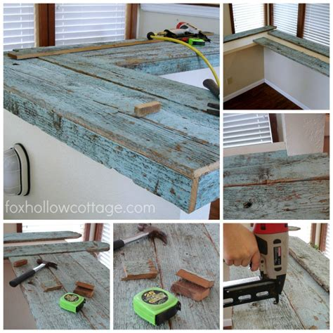Make A Wood Countertop by How To Make A Wood Fence Board Countertop Fox Hollow Cottage