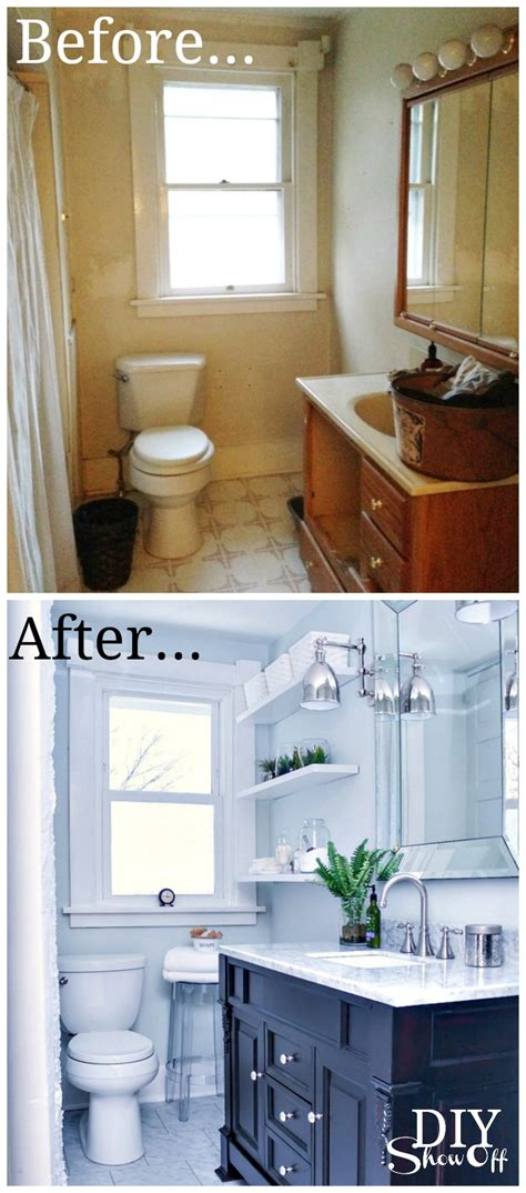 before and after decor bathroom before and after diy show off diy