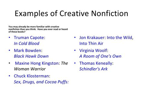 Creative Nonfiction Essay Exles by What Is Creative Nonfiction