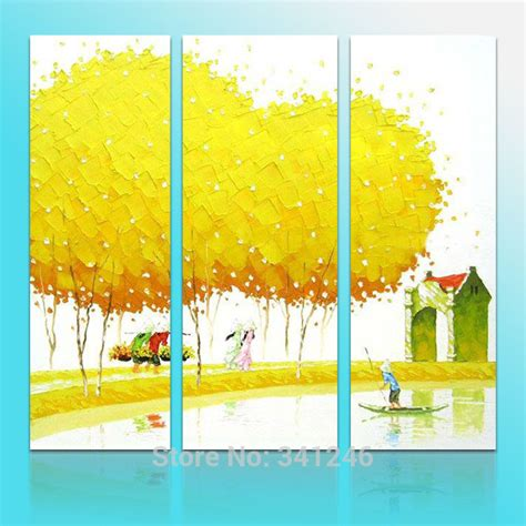tree modern canvas art wall decor landscape oil painting hand painted modern hang wall art home decor pastoral