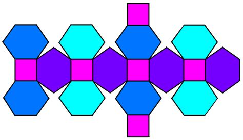 Net Like | file truncated rhombic dodecahedron net png wikimedia
