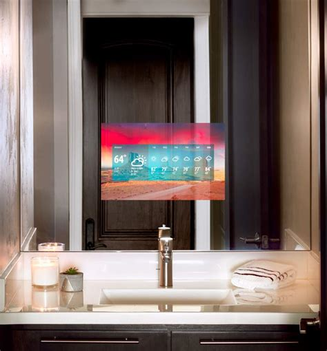 bathroom mirror with tv seura