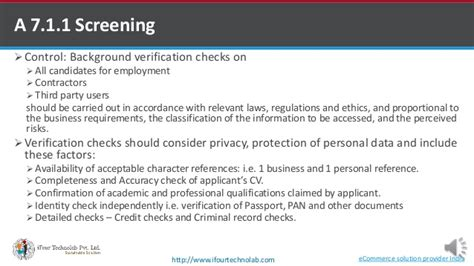 Third Background Check Providers Iso 27001 2013 A7 Human Resource Security Part 1 By Software Develop