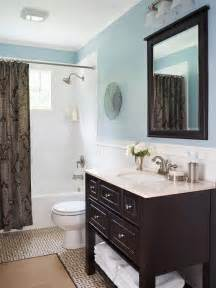 Blue And Grey Bathroom Ideas Blue Bathroom Design Ideas Brown Vanities And Shower Surround