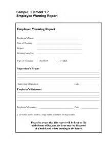 Employee Warning Template by Best Photos Of Printable Written Warning Employee