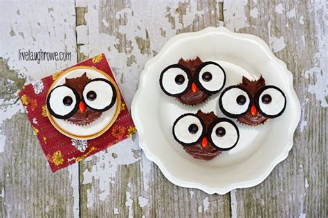 easy owl cupcakes live laugh rowe