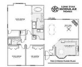 modular floor plan the cypress ranch style modular home floor plan