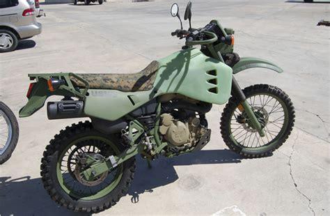 kawasaki klr diesel sipping motorcycle   marine