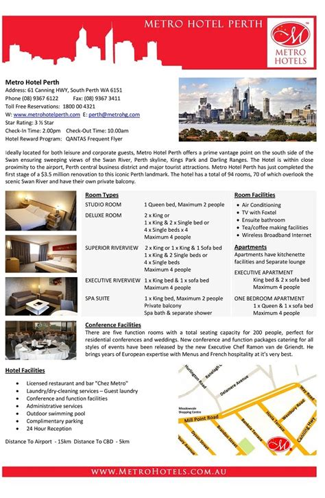 hotel fact sheet template images frompo