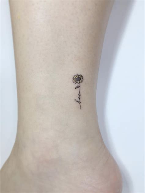 simple sunflower tattoo designs tattoo ideas ink and